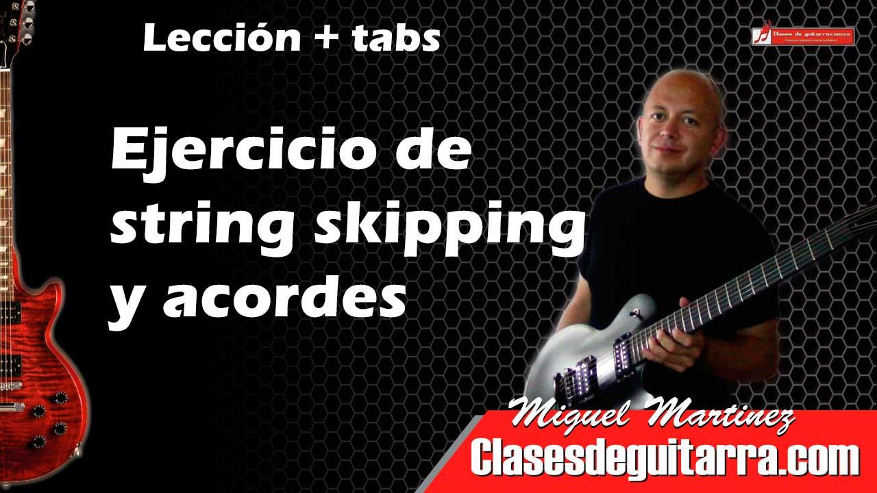 Ejercicio de string skipping y acordes