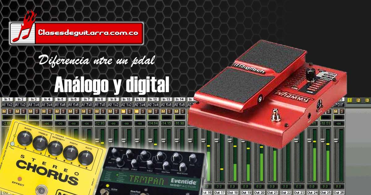 pedal analogo y digital