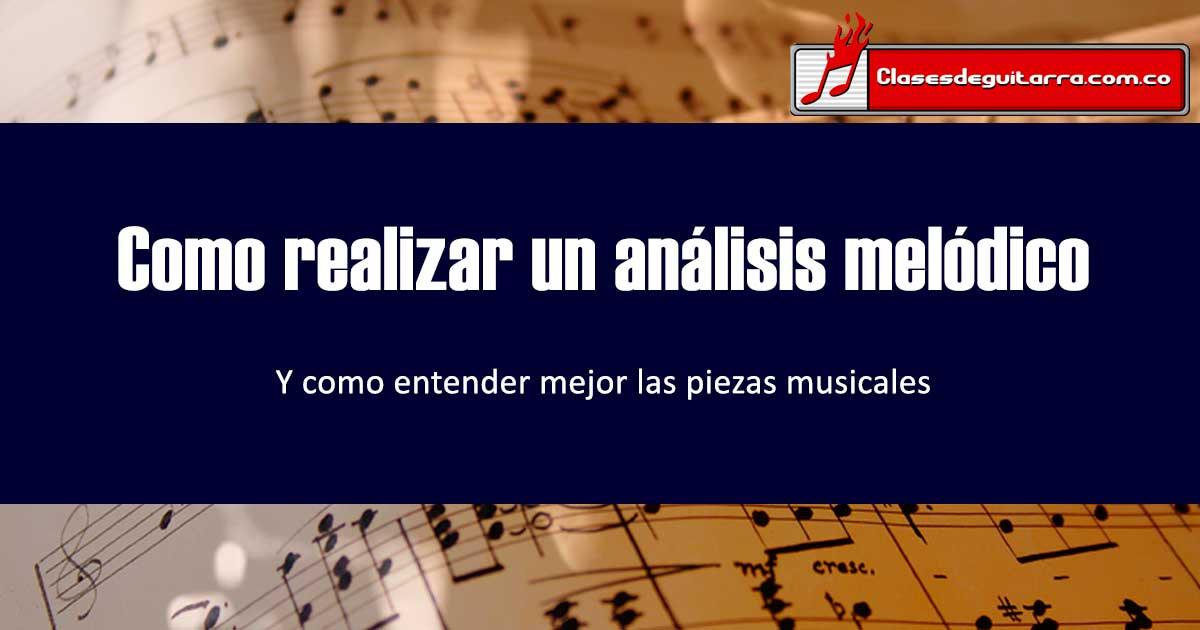 análisis melódico