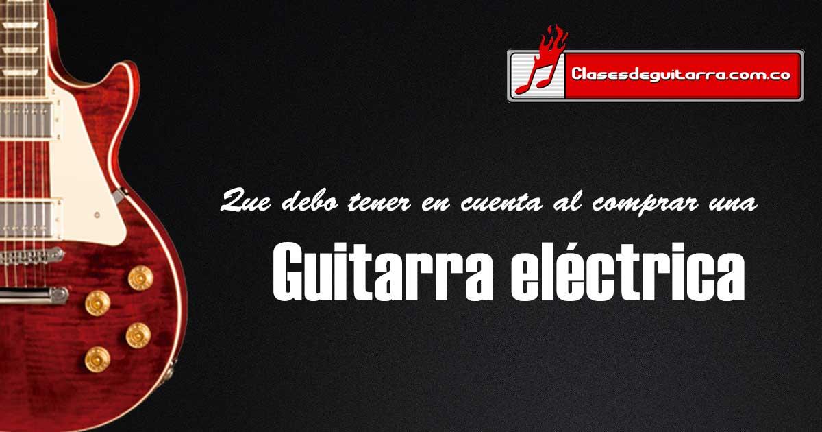 comprar una guitarra eléctrica