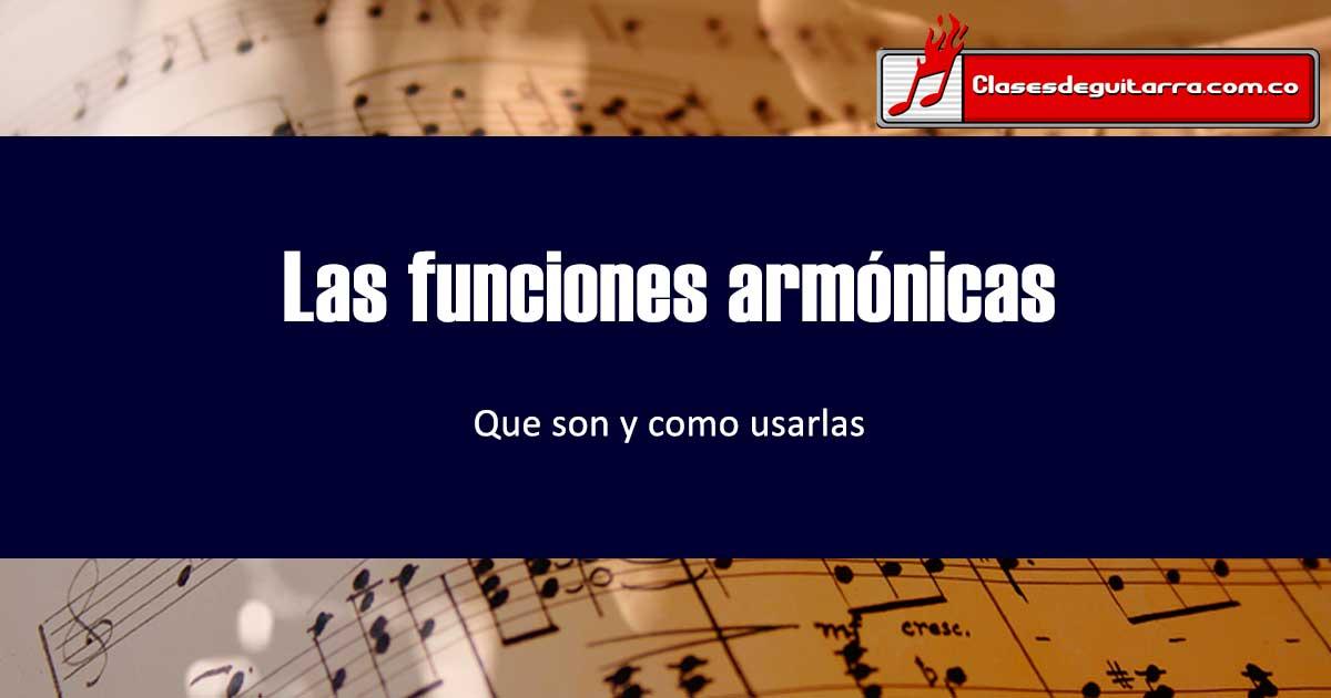 Funciones armónicas