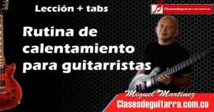 calentamiento para guitarristas