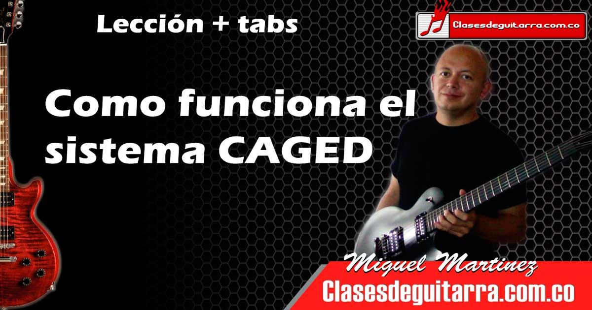 Como usar el sistema CAGED para aprender los acordes en la guitarra