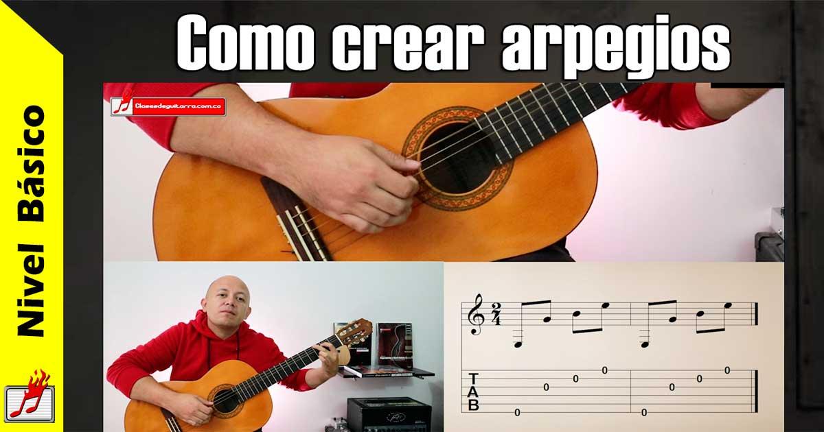 Como crear arpegios en la guitarra