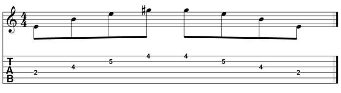 hacer un acorde usando sweep