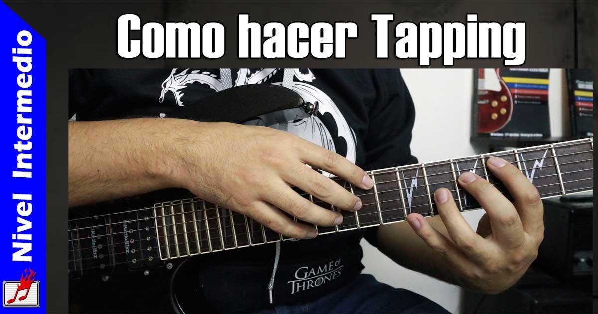 Como hacer Tapping en la guitarra eléctrica