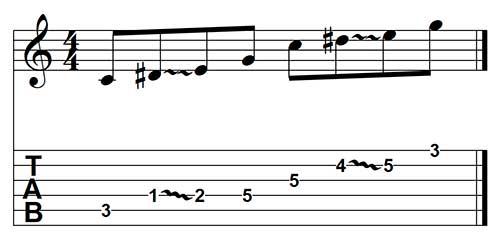 Ejemplo de slide para guitarra