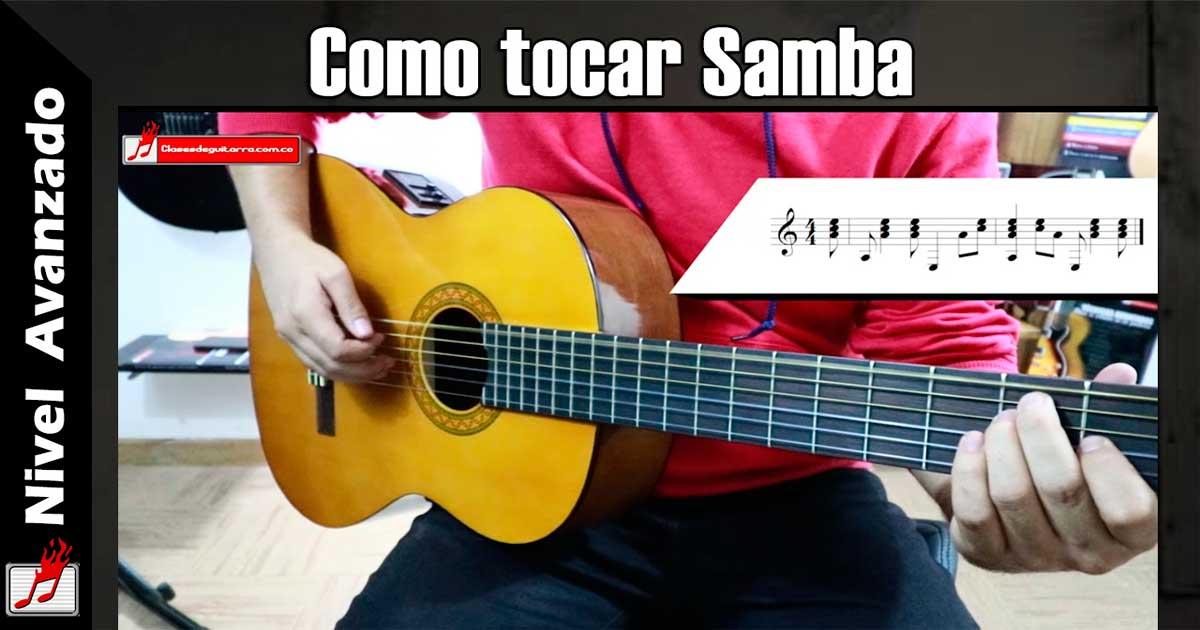 Como tocar Samba en guitarra