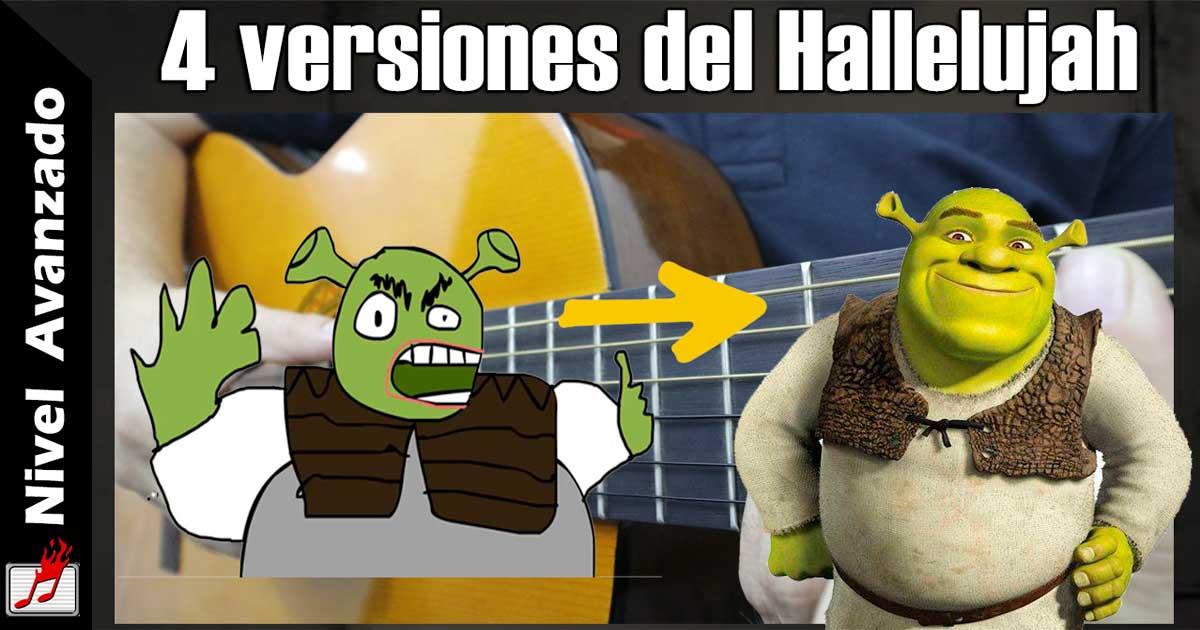 """Cuatro formas para tocar Hallelujah """"Shrek"""" en guitarra"""
