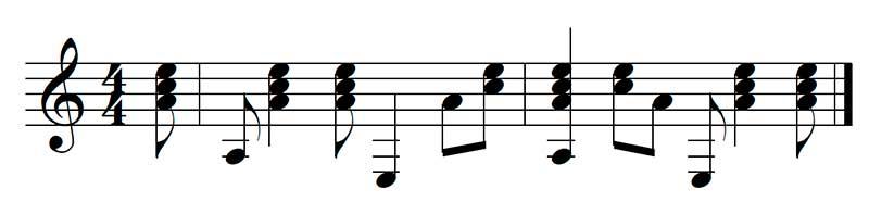 Variación ritmo de samba
