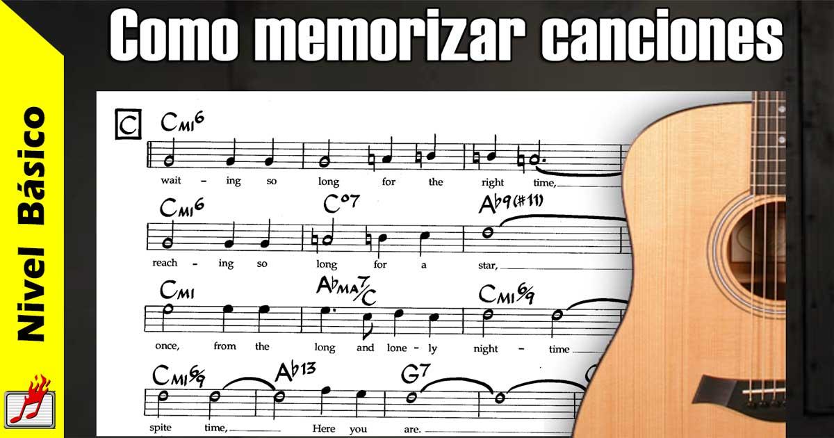 como memorizar canciones
