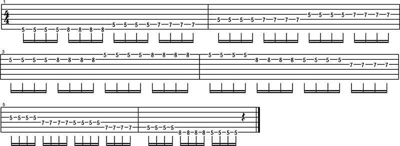 Ejercicio para tocar Funk en guitarra