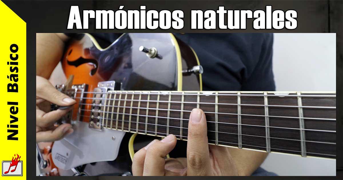 armónicos naturales
