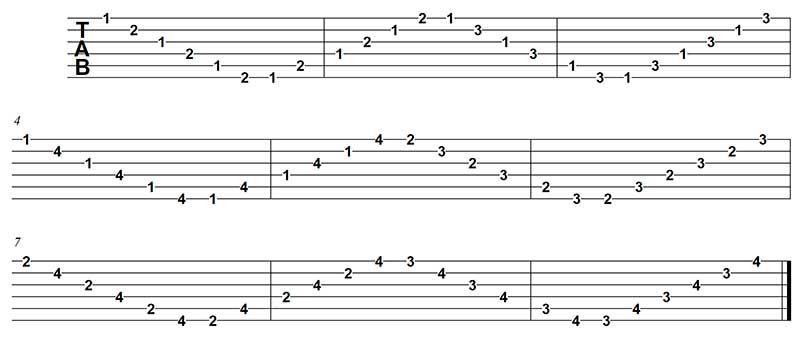 Ejercicio independencia sweep picking