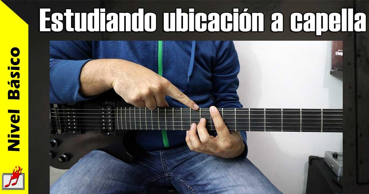 ubicación en la guitarra