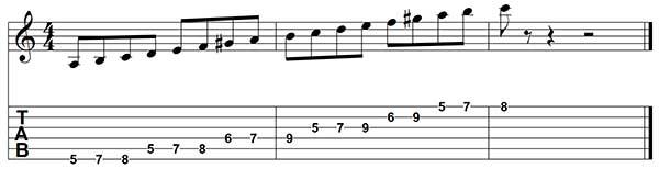 escala menor armonica