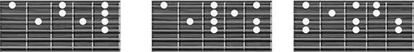 digitaciones de las escalas cuarta cuerda