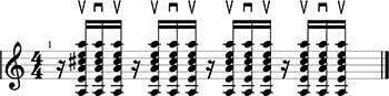 Ritmo Ska tres notas.