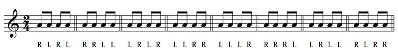 paradiddle en batería