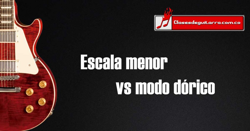 Escala menor vs modo dórico