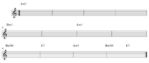 Blues menor variación 1