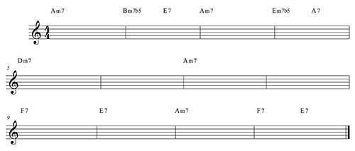 Blues menor variación 3